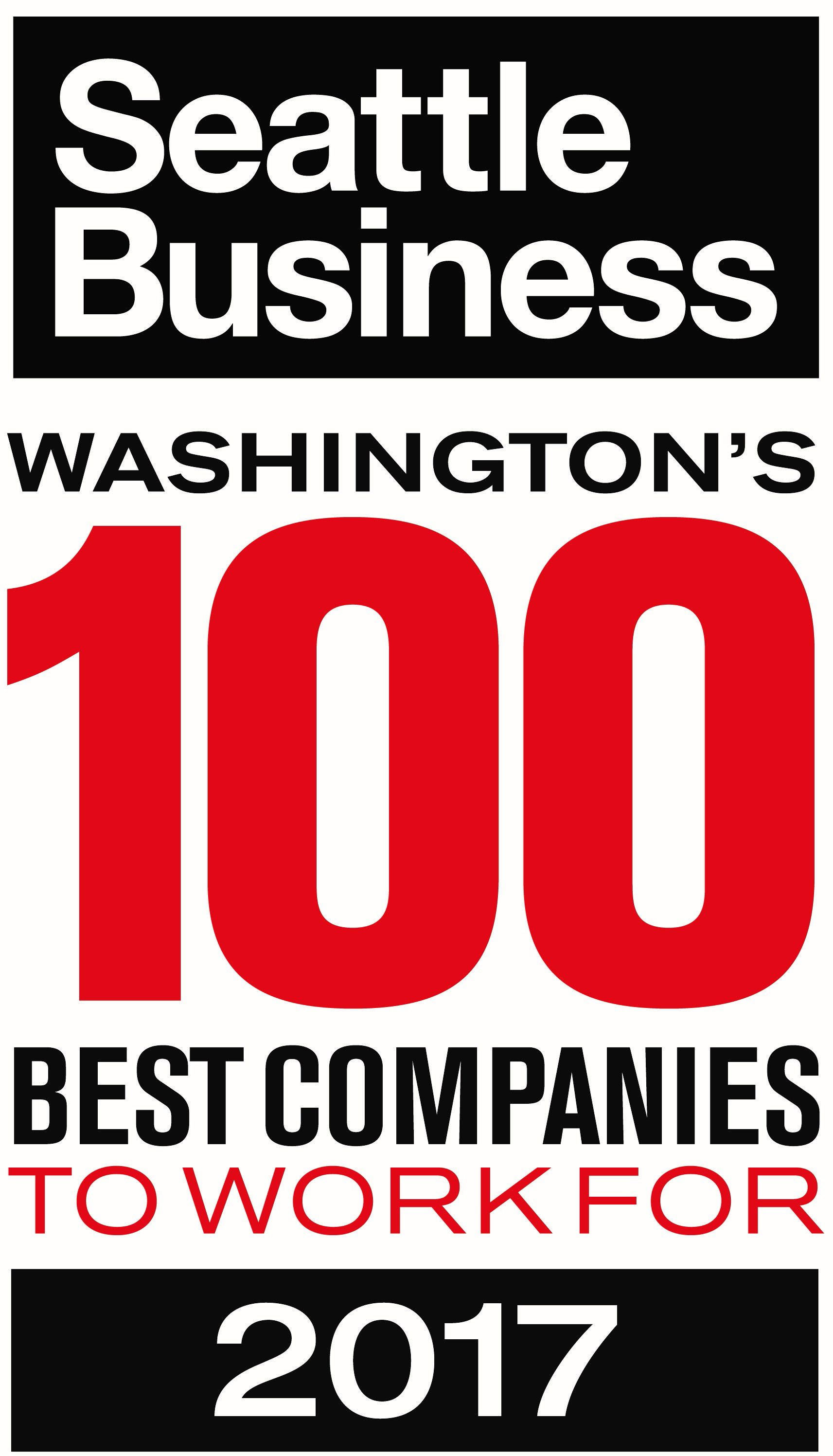 Seattle Business Washginton's 100 Best Companies to Work For 2017